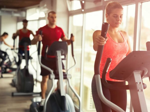 People cardio workout in gym