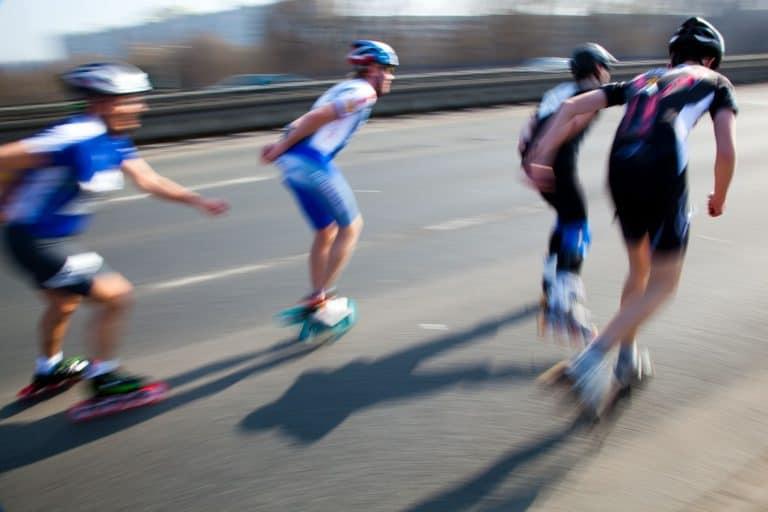 Inlinerrennen auf Straße