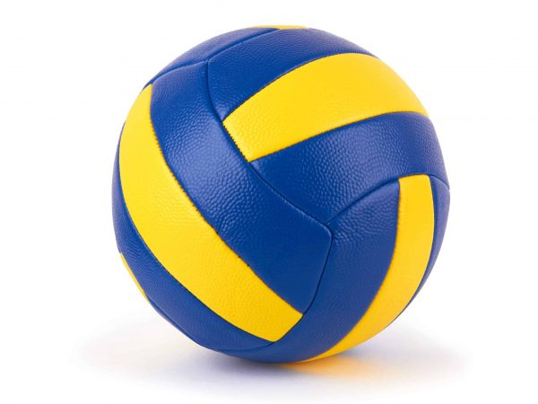 the ball for volleyball on a white background