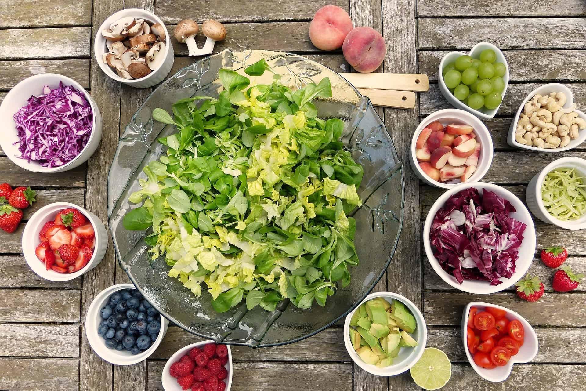 Ausgewogene Ernährung zum Abnehmen mit Bewegung
