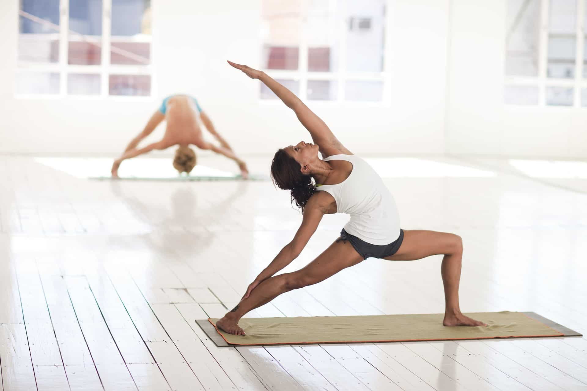 Natürliche Kork TPE Yogamatte rutschfeste Trainingseinheiten mit Positionslinie