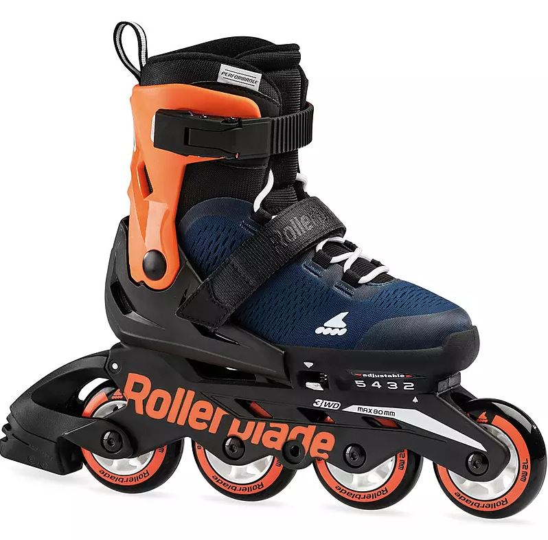 Rollerblade - Microblade - Inline-Skates für Kinder - Midnight Blue / Warm Orange