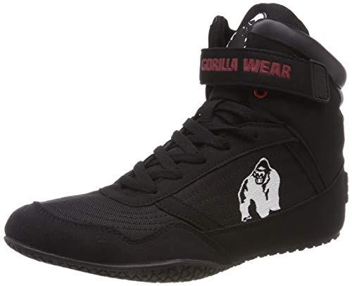 Gorilla Wear High Tops Black schwarz - Bodybuilding und Fitness Schuhe für Damen und Herren, EU 43
