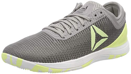 Reebok Herren R Crossfit Nano 8.0 Fitnessschuhe, Grau (Tin Grey Shark//Lemon Zest/Ash Grey/White Tin Grey Shark//Lemon Zest/Ash Grey/White), 48.5 EU
