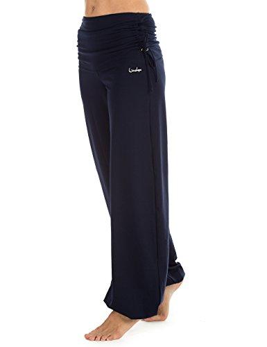Winshape Damen Trainingshose WH1 Fitness Freizeit Sport Yoga Pilates, Night Blue, XL