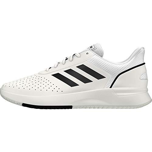 Adidas Herren Courtsmash Tennisschuhe Weiß (Ftwbla/Negbás/Gridos 000) , 43 1/3 EU