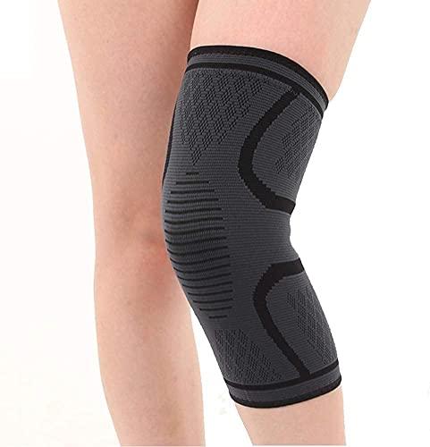 Ducomi KneeX Kompressions-Knieschoner für Bänder, Meniskus, Kreuz, 1 Paar, elastisch, für Damen und Herren, ideal für Volleyball, Basketball, Schwarz, XXL.