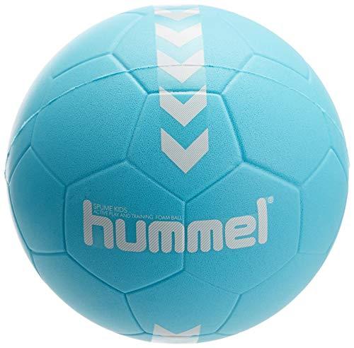 hummel 203605 Unisex Kinder HMLSPUME Kids-Handball, türkis/Weiß, 0