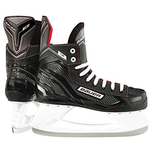 BAUER Kinder Eishockey Schlittschuhe NS Junior I 5 Größen I ideal für Freizeitsspieler I Edelstahlkufen I komfortables Laufen I leichtes Anziehen