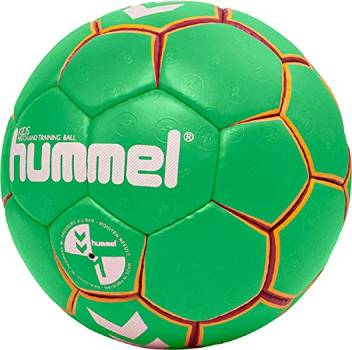 hummel 203603 Unisex Kinder HMLKIDS-Handball, Grün/Gelb, 1