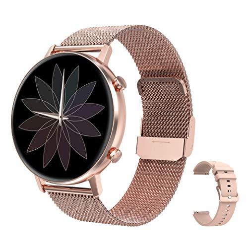 RIGHT TECHNOLOGY SCHARM Smartwatch für Damen,1.3 Zoll Touch-Farbdisplay. Fitness Armbanduhr mit Pulsuhr Fitness Tracker Wasserdicht Sportuhr mit Schrittzähler,Schlafmonitor, IOS/Android Kompatibel