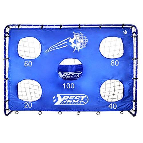 Best Sporting Fußballtor mit Torwand, 213 x 152 cm, mit 5 Schusslöchern, blau