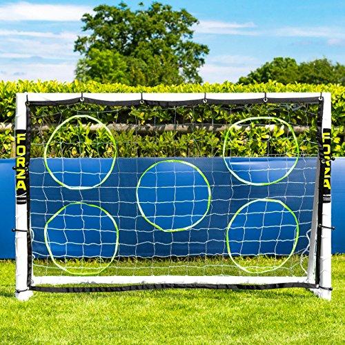 Net World Sports Forza 1,8m x 1,2m Fußballtor – Dieses Tor kann das ganze Jahr über bei jedem Wetter draußen gelassen Werden (Tor mit Torwand)